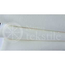 Natural whitened linen fabric LL 491, 185 g/m²