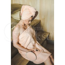 Cotton hair towel ,,Peach""