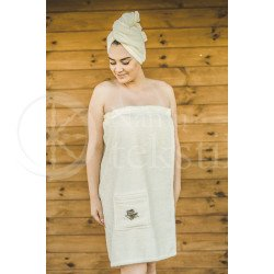 Cotton hair towel ,,Beige""