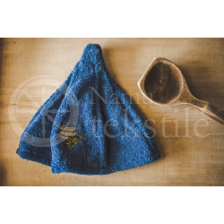 Cotton sauna hat ,,Blue""