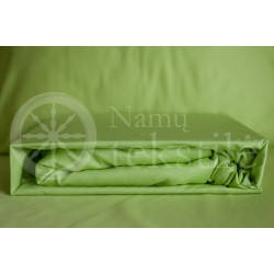 Satin fitted sheets (green)