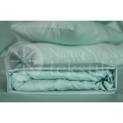 Satin fitted sheets (blue)