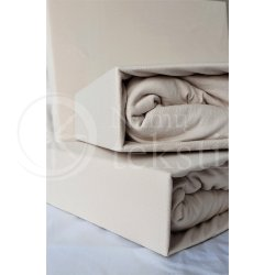 Jersey fitted sheet (cream)