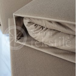 Jersey fitted sheet (beige)