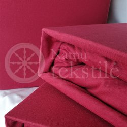 Jersey fitted sheet (burgundy)