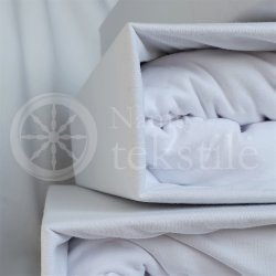 Jersey fitted sheet (white)