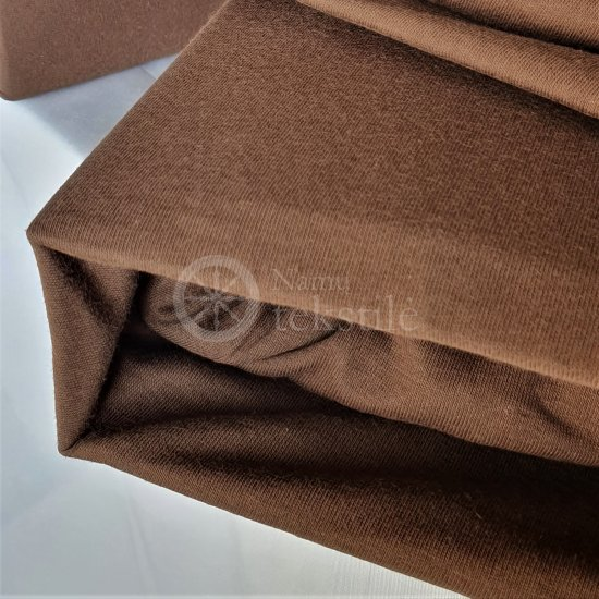 Jersey fitted sheet (brown)