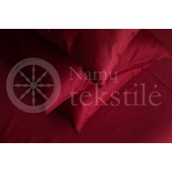 Satin pillowcase 40x60 (burgundy)
