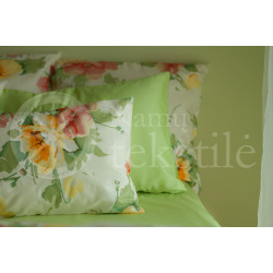 Satin pillowcase 40x60 (green)