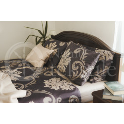 Mako satin bedding set CHOCO
