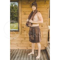 Cotton men's sauna apron ,,Choco""