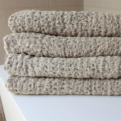 Linen grey bath towel