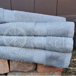 Cotton terry towel grey