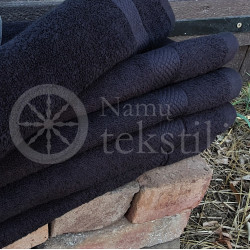 Cotton terry towel black