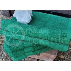 Cotton terry towel green