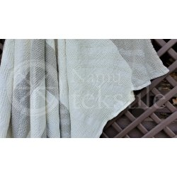 Half-linen bath towel with white stripes