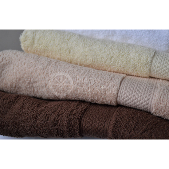 Cotton terry towel brown
