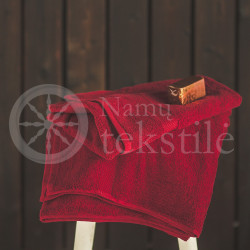 Cotton terry towel burgundy