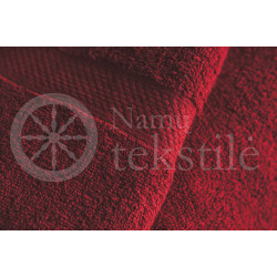 Bamboo fibre terry bath towel burgundy
