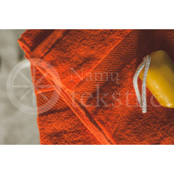 Bamboo fibre terry bath towel orange