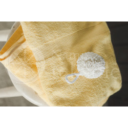 Cotton terry towel yellow