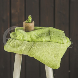 Bamboo fibre terry bath towel green