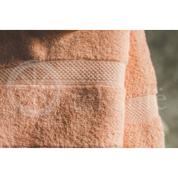 Cotton terry towel peach