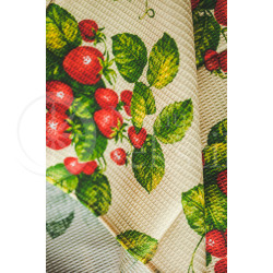 "Cotton waffle surface kitchen towel ""Braškės"""