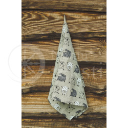 "Colourful half-linen kitchen towel ""Avelės"""