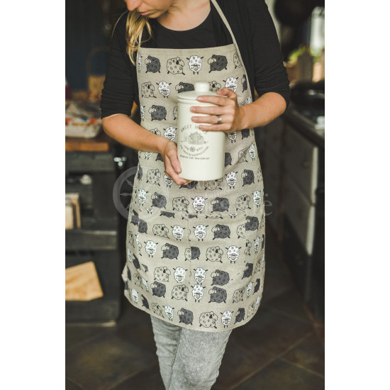 "Colourful half-linen kitchen apron ""Avelės"""
