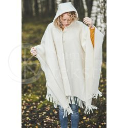 Cape with a hood WHITE03