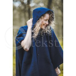 Cape with a hood DARK BLUE03