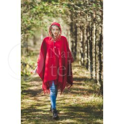 Cape with a hood RED03